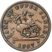 1 penny - Banque du Haut Canada -  avers
