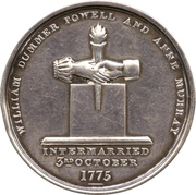 Medal - William Dummer Powell and Anne Murray, Golden Wedding (Upper Canada) – avers