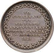Medal - William Dummer Powell and Anne Murray, Golden Wedding (Upper Canada) – revers