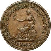 1/2 Penny (Britannia & Eagle) – avers