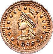 ¼ Dollar (Administration britannique) – avers