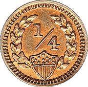 ¼ Dollar (Administration britannique) – revers