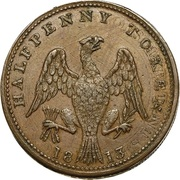 1/2 Penny (Britannia & Eagle) – revers