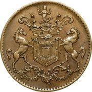 "½ Penny - Rutherford (""St John's"") – avers"