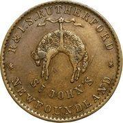 "½ Penny - Rutherford (""St John's"") – revers"