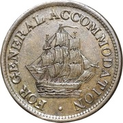 ½ penny (For General Accomodation) – avers