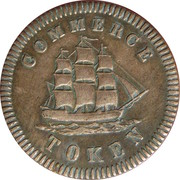 ½ Penny  (Commerce Token - Francis Mullins) – avers