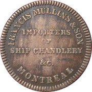 ½ Penny  (Commerce Token - Francis Mullins) – revers