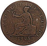 1 Penny (British Colonies) – revers