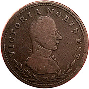 ½ Penny (Victoria Nobis Est) – avers
