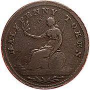 ½ Penny (Victoria Nobis Est) – revers