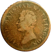 1/2 Penny (Field Marshal Wellington - Hibernia) – avers