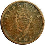 1/2 Penny (Field Marshal Wellington - Hibernia) – revers