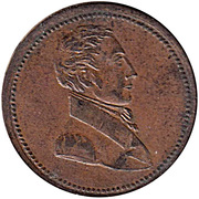1/2 penny (commercial change / small bust) – avers