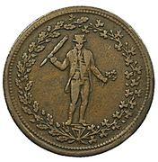 ½ Penny (Pure copper preferable to paper) – avers