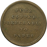 ½ Penny (Pure copper preferable to paper) – revers