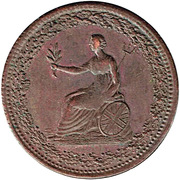 ½ Penny (L'Aigle et Britannia) – avers