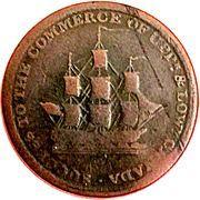½ Penny (Sir Issac Brock) – avers