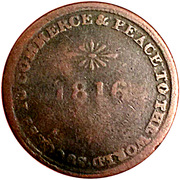 ½ Penny (Sir Issac Brock) – revers