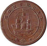 1/2 Penny - Monteal (bust & ship token) – revers