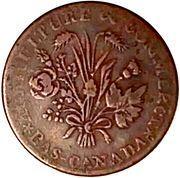 1 Sou (Banque du Peuple - Sou de la Rébellion) – avers