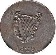 ½ penny - (Imitation harpe) – revers