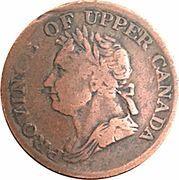 ½ Penny - (George IV) – avers