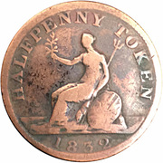 ½ Penny - (George IV) – revers