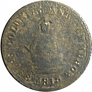 1/2 penny (ships, colonies & commerce - ship left) – avers