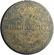 1/2 penny (ships, colonies & commerce - ship left) – revers