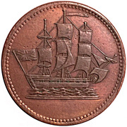 1/2 penny ( Ships colonies & commerce - Bar ampersand) – avers