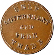 1/2 penny ( Prince Edward's Island - Self government and free trade) – revers