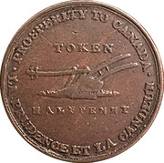 ½ Penny - (Jeton de Lesslie) – revers