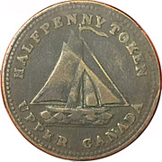 1/2 Penny (Commercial Change - Upper Canada) – avers