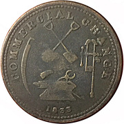 1/2 Penny (Commercial Change - Upper Canada) – revers