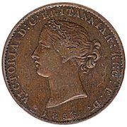 ½ penny Victoria (fleurs de mai) – avers