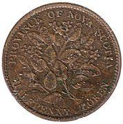 ½ penny Victoria (fleurs de mai) – revers