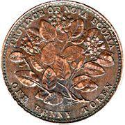 1 penny Victoria – revers