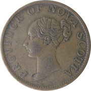 ½ penny Victoria – avers