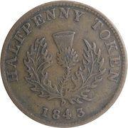 ½ penny Victoria – revers