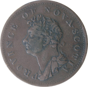 ½ penny - George IV -  avers