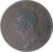 ½ penny - George IV – avers