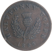 ½ penny - George IV -  revers