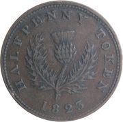½ penny - George IV – revers