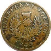 ½ Penny - Victoria – revers