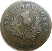 1 Penny - George IV – revers