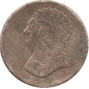 ½ Penny - (Original Bust and Harp) – avers