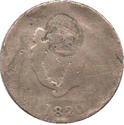½ Penny - (Original Bust and Harp) – revers