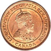 1 cent Edouard VII -  avers