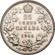 25 cents Edouard VII -  revers